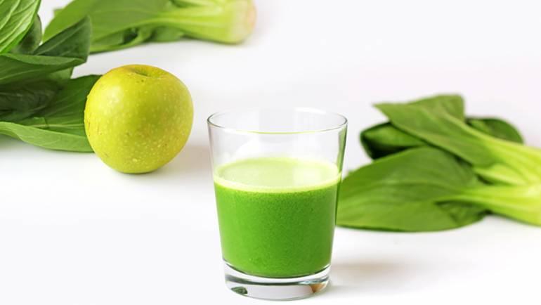 小棠菜蘋果汁